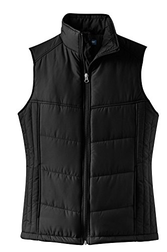 Port Authority - Ladies Puffy Vest. L709 - Black/Black_3XL