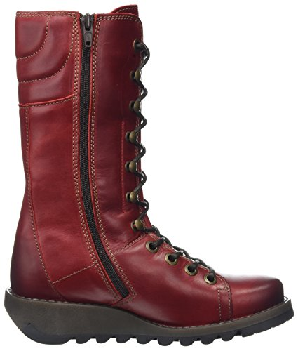 Fly London Ster768fly, Botas Para Mujer Rojo (Red)