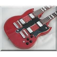 JIMMY PAGE Miniature Mini Guitar Led Zeppelin Double Neck