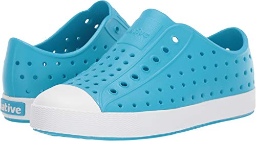 Native Kids Shoes Unisex Jefferson (Little Kid/Big Kid) Ultra Blue/Shell White 2 M US Little Kid -