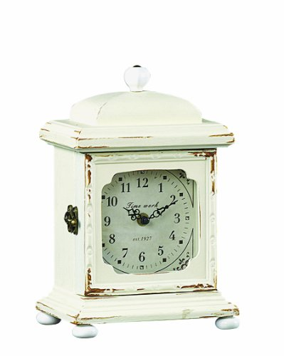 Creative Co op Mantle Clock Cream