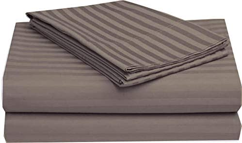 Taupe Solid Bed Sheets for Campers Fits Deep Mattress Microfiber RV Sheet Sets