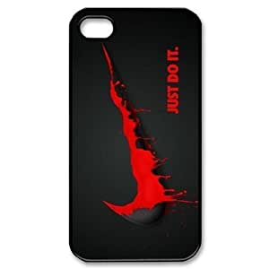 Unique TOP Brand NIKE Iphone 4 4S Case RED NIKE Logo Just Do It Cases Cover