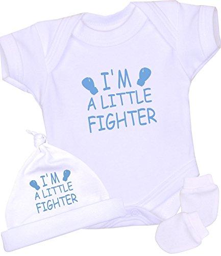 BabyPrem Premature Baby One-Piece Hat Mittens Gift Set Clothes 3.5-5.5lb Blue P2