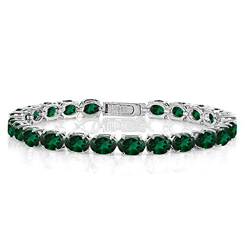 Sterling Silver 7x5 Emerald - 8