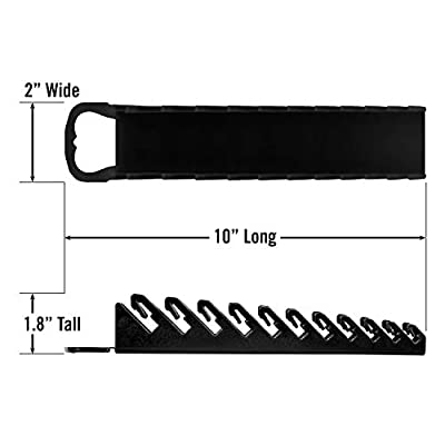 Ernst Manufacturing Gripper Stubby Wrench Organizer, 11 Tool, Black - Ernst Stubby Wrench Holder - .com