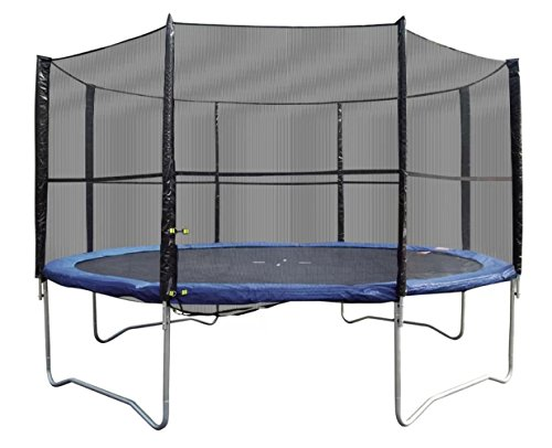12' Trampoline with Safety Enclosure, Kids Backyard Play by Super Jumper