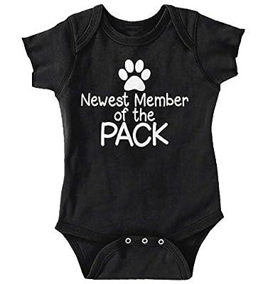Brisco Brands New Member Pack Funny ironic Pets Cute Newborn Baby Onesie Bodysuit
