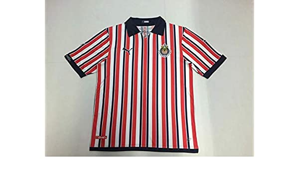 best authentic 8f7e0 6fe52 Amazon.com : Retro Chivas Home Soccer Jersey 2018-2019 ...