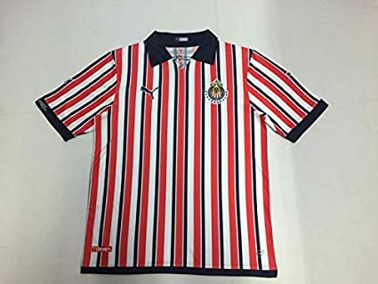 best authentic 81093 d279c Amazon.com : Retro Chivas Home Soccer Jersey 2018-2019 ...