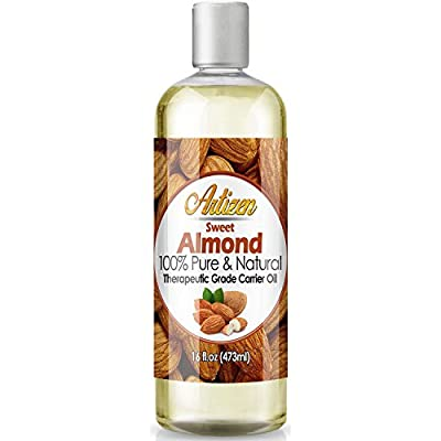 Artizen Sweet Almond Oil - 16oz (Ounce) Bottle (100% Pure & Natural) - Perfect Carrier Oil for Diluting Essential Oils - Cold Pressed - Works Great as a Massage Oil, Aromatherapy, & More!