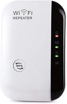HOTSO Repetidor WiFi, 300Mbps Repeater Amplificador Ap de Señal Red 2.4G Extención Antena Incorporada LAN Puerto Alta Velocidad, Largo Alcance y Fácil ...