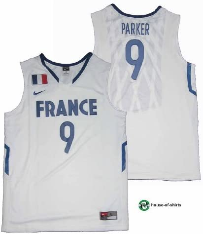 France Basketball Maillot Tony Parker Nike White Taille XL
