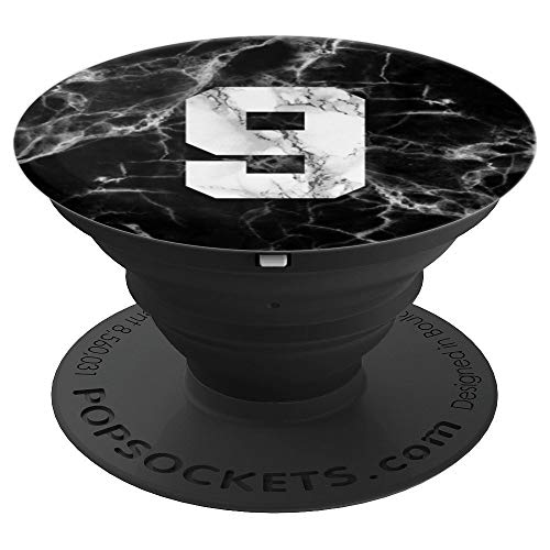 (Number 9 on Marble Baseball, Basketball, Football, Soccer - PopSockets Grip and Stand for Phones and Tablets)