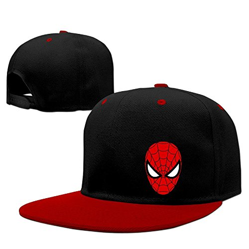 Famouse Hero Spider Man Face Mask Contrast Color Snapback Cap