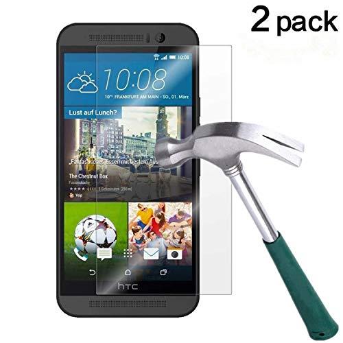 HTC One M9 Screen Protector, TANTEK [Bubble-Free][HD-Clear][Anti-Scratch][Anti-Glare][Anti-Fingerprint] Tempered Glass Screen Protector for HTC One M9 / HTC M9 [2015],-[2Pack] (Htc One Screen Protectors)