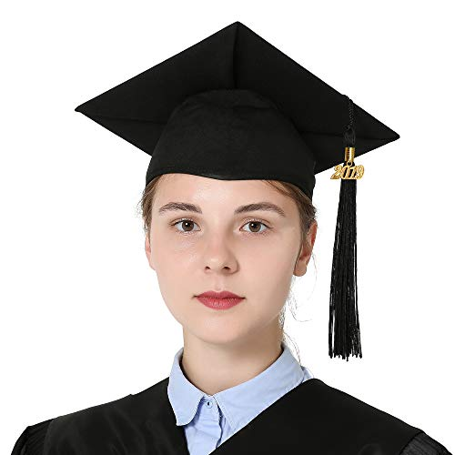 0bf8b3bd71 GraduationMall Unisex Adult Matte Graduation Cap with 2019 Tassel Black