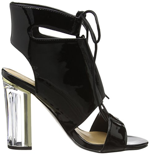 Boohoo Paige Clear Heel Lace Up Shoe Boot - Sandalias Mujer Negro