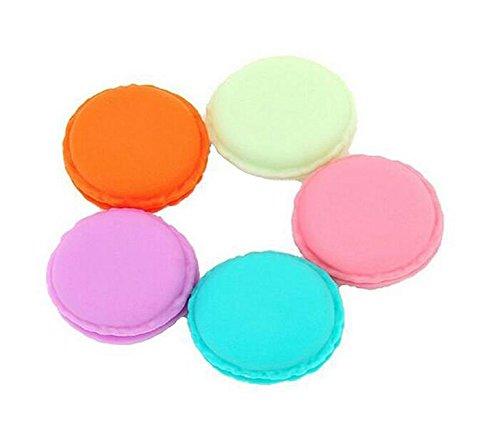 20PCS Mini Macaron Jewelry Storage Box-Travel Plastic Cosmetic Sample Containers with Screw Cap Jar Pot Makeup Eye Shadow Storage Organizer Pill Box(Color Random) from Elandy