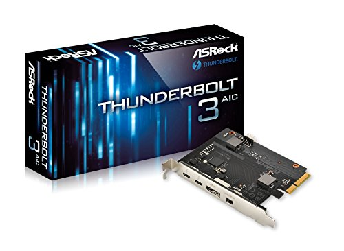 Asrock Thunderbolt 3 AIC PCI Express 2 x Thunderbolt 3 1 x DisplayPort 1 x Mini DP TBT Header