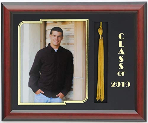 3art Graduation Tassel 8x10 Picture Frame Mahogany 2019 (Customizable) ()