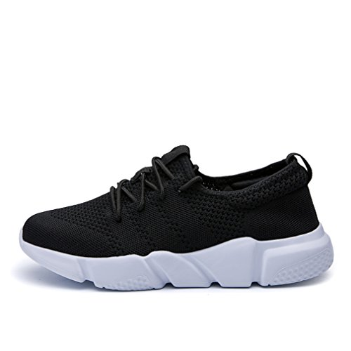 Men Women Sports Shoes Sock Running Shoes Summer Mesh Sneakers Walking Socks Black 7.5