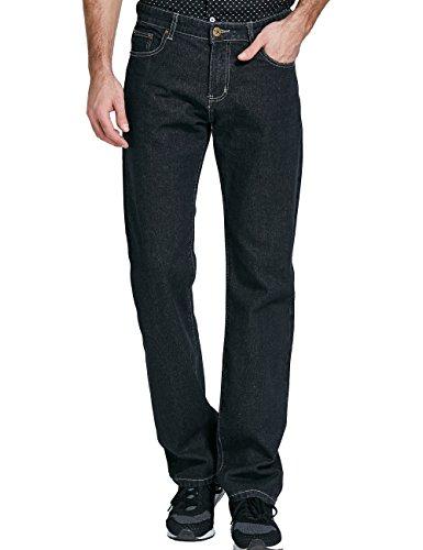 SSLR Men's Classic Regular Fit Straight Leg Cowboy Jean (W42 x L32, Black) Urban Cowboy Jeans