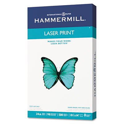 Laser Print Office Paper, 98 Brightness, 24lb, 8-1/2 x 14, White, 500 Sheets/RM, Total 10 RM, Sold as 1 Carton by Hammermill (Image #3)
