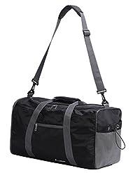 WODISON Lightweight Waterproof Foldable Travel Duffel Weekender Sport Gym Bag Black