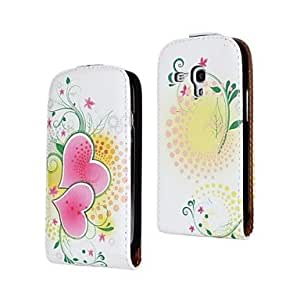 JAJAY- Flowers and Love Pattern PU Leather Full Body Case for Samsung Galaxy S3 mini I8190