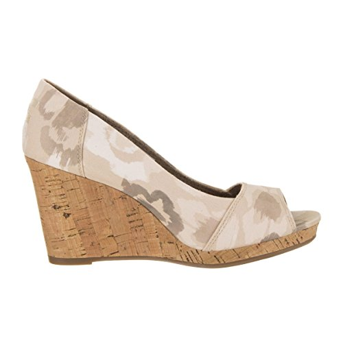 TOMS Women's Natural/Watercolor Floral Stella Wedge 10009765