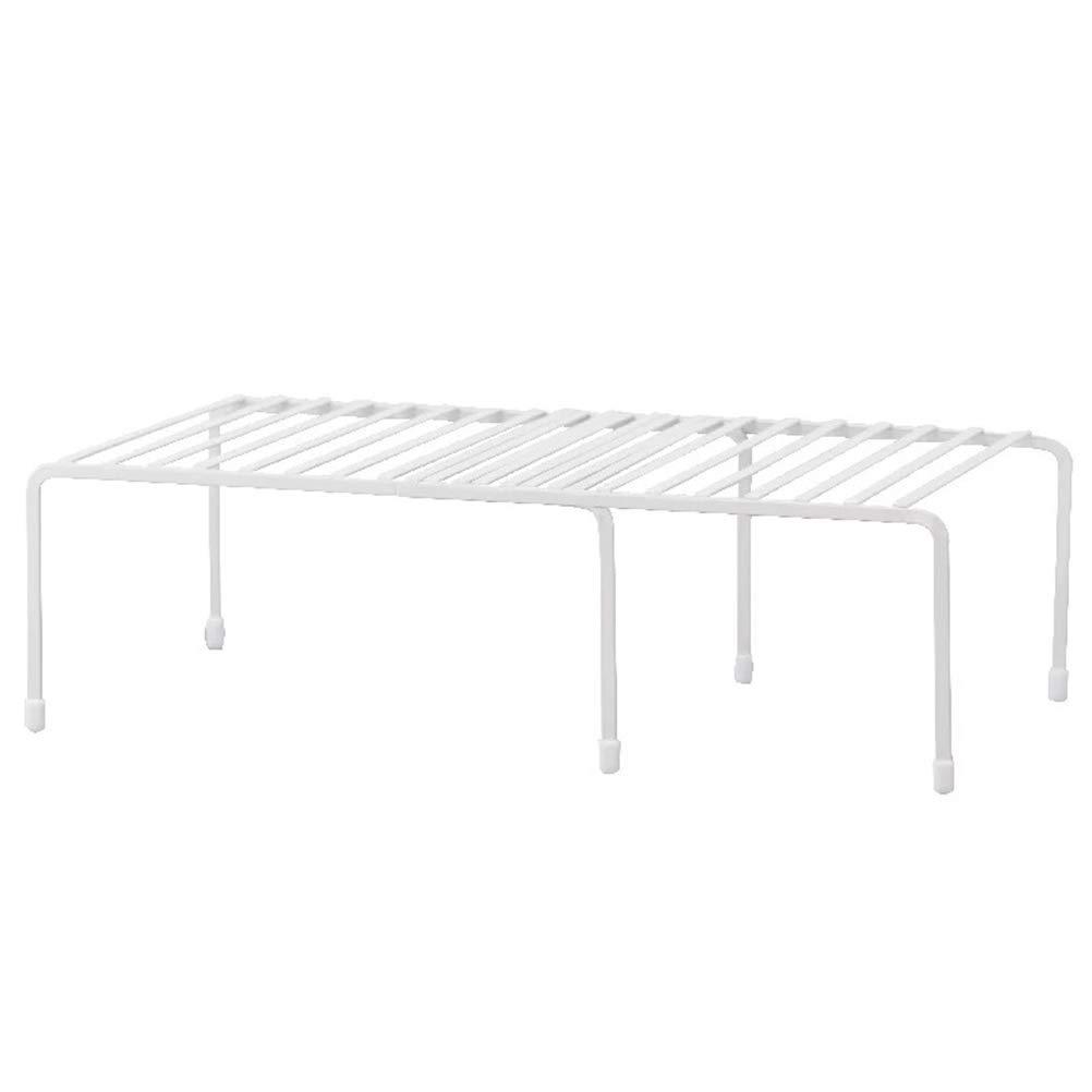 Simple Fashion Retractable Kitchen Life Supplies Rack Multifunctional Seasoning Storage Rack Under Table Storage Shelf (White)