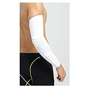 Elbow Sleeve Pad - All-nice Compression Arm Guard Sleeve Support for Basketball Football Volleyball Baseball Softball Cycling Running Fishing Tennis
