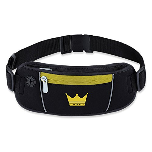 Exsi Waist Pack Fanny Pack, Sports Exercise Belt For Women,Men, Best For Running To Keep Safe At Dark, Very Convenient For Cycling, Hiking