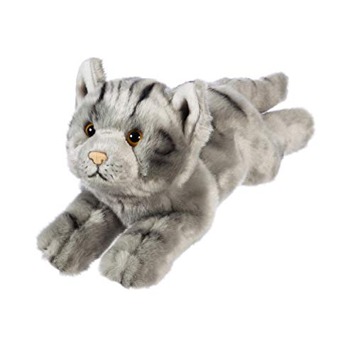 B.Boutique Wildlife Adventures Gray Tabby Cat Stuffed Animal