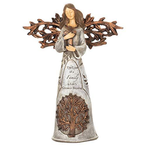 Roman Angel Holding Cross Figurine