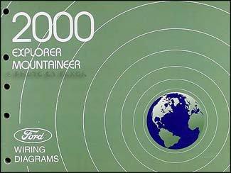2000 Ford Explorer Mercury Mountaineer Wiring Diagram Manual Original
