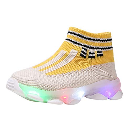 LED Light Up Shoes,Londony  Unisex LED Shoes High Top Breathable Sneakers Light Up Shoes for Women Men Girls Boys College Mens All Star Watch