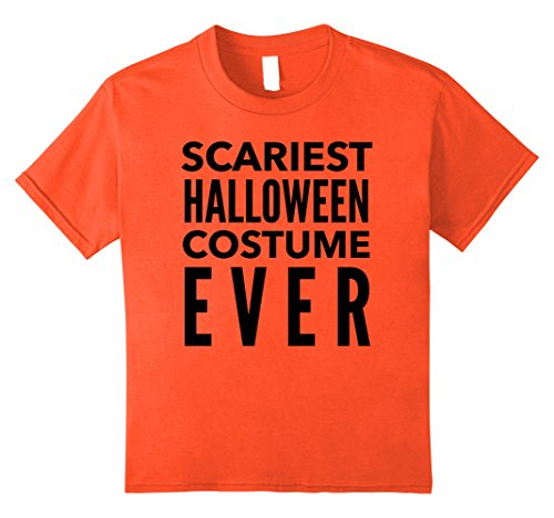 [Kids Scariest Halloween Costume Tshirt - Funny Halloween T Shirt 12 Orange] (Scariest Costumes For Halloween)