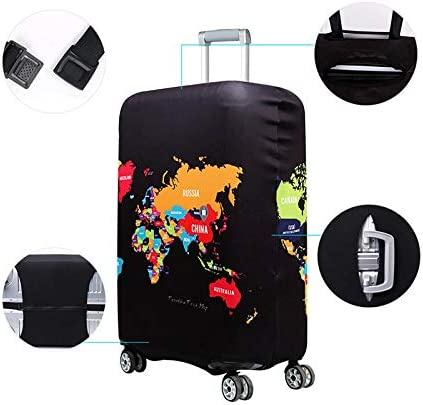 Aikesi 3Pc Luggage Protective Cover Washable Travel Luggage Suitcase Protector Elastic Suitcase Trolley Cover Balloon S