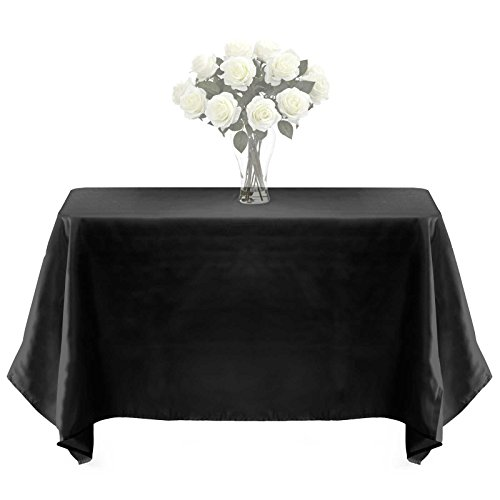 Lann's Linens - 10 pcs 60 in. x 102 in. PREMIUM WEIGHT Seamless Tablecloths - for Wedding or Party Use - Black
