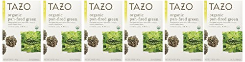 (Tazo Organic Pan-Fired Green Tea, 20-Count Teabags (Pack of 6) )
