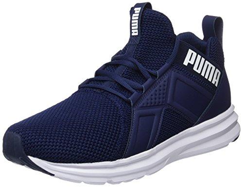peacoat puma Blu Scarpe White Running Weave Enzo Uomo Puma CqaRfwa