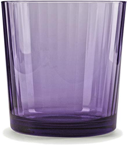 - Circleware 44811 Plum Whiskey, Set of 4, Kitchen Entertainment Dinnerware Drinking Glasses Glassware for Water, Juice, Beer and Bar Liquor Dining Decor Beverage Cups Gift, Spectrum 4pc-13oz DOF