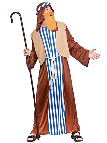 Wicked Mens Joseph Costume Outfit Biblical Christmas Panto Fancy Dress 37-48 Adults (Men: X-Large)