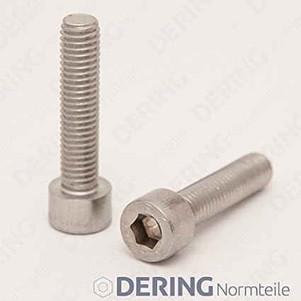 | Zylinderschrauben 10 St/ück DERING Zylinderschrauben M10x45 mit Innensechskant DIN 912 Edelstahl A2 rostfrei Zylinderkopf Schrauben