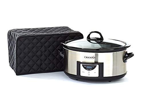 CoverMates – Slow Cooker Cover – 16W x 10D x 9H – Diamond Collection – 2 YR Warranty – Year Around Protection - Black