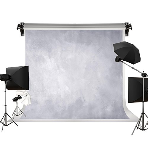 Kate 7x5ft/2.2x1.5m(W:2.2m H:1.5m) Photo Backdrops Photographers Retro Solid Light Grey Background Photography Props Studio Digital Printed Backdrop