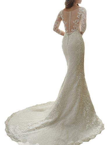 Cardol flower appliques mermaid half sleeves lace wedding for Wedding dresses with half sleeves