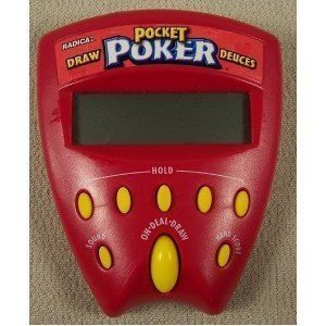 Pocket Poker Draw and Deuces 2 in 1 Handheld Game (1999 Edition) by Radica Games